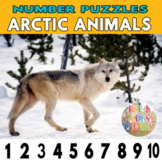 Arctic Winter Animals Number Strip Puzzles   Number Order