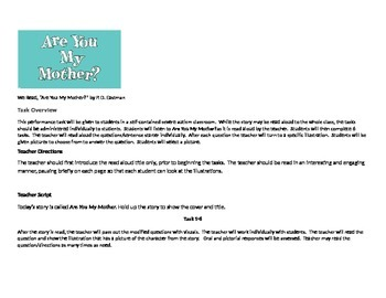 are you my mother modified story with questions