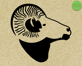 aries ram SVG cut files, DXF, vector EPS cutting file instant download