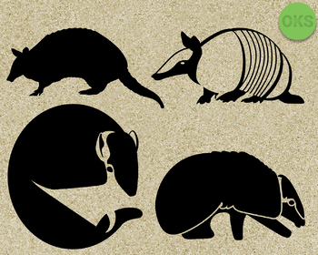 armadillo SVG cut files, DXF, vector EPS cutting file instant download