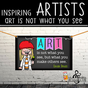 art CHALK - Classroom Decor: MEDIUM BANNER, Art Is Not What You See But What You