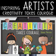 art CHALK - Classroom Decor: MEDIUM BANNER, Creativity Takes Courage
