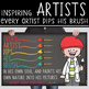 art CHALK - Classroom Decor: MEDIUM BANNER, Every Artist Dips His Brush Into His
