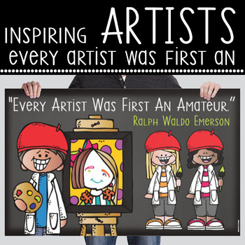 art CHALK - Classroom Decor: MEDIUM BANNER, Every Artist Was Once An Amateur
