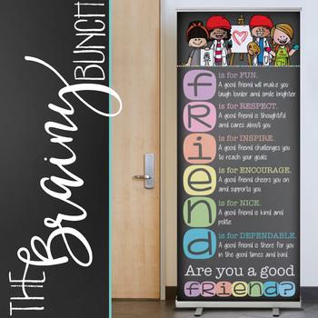 art CHALK {melonheadz} - Classroom Decor: LARGE BANNER, Are You a Good FRIEND ?