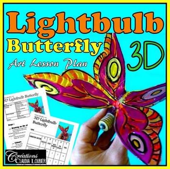 Art Project: 3D Lightbulb Butterfly