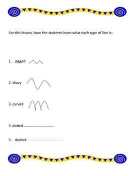 art - using lines in art class