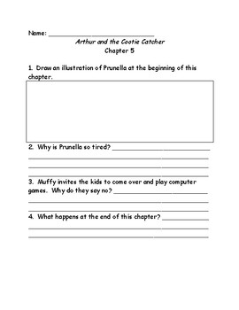 arthur and the Cootie Catcher comprehension questions
