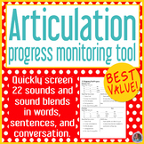 Articulation baseline and end progress monitor BUNDLE PACK 22 sounds