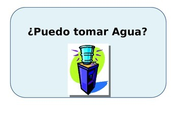 asking for water poster puedo tomar agua