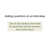 asking questions during an interview for a job