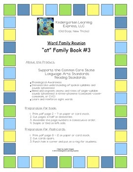 """at Family"" Book 3 (with supporting flash cards)"