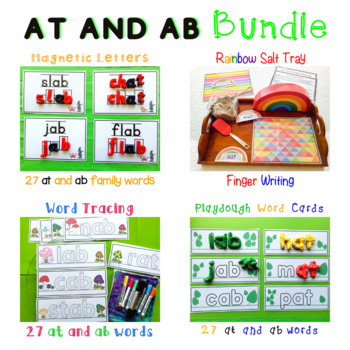 at and ab Word Family Bean Spell Bundle