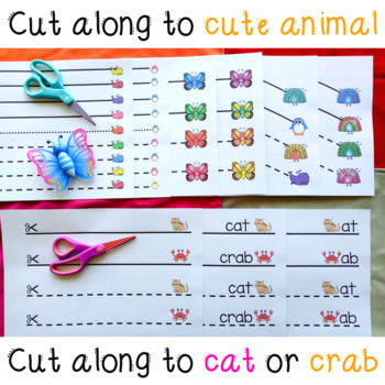 at and ab Word Family Detailed Cutting Activity