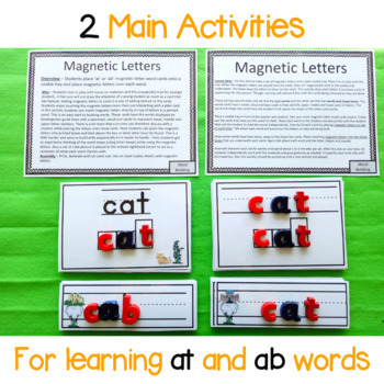 at and ab Word Family Magnetic Letter Activity