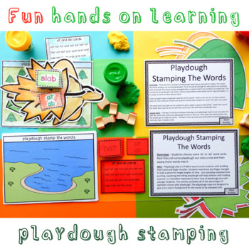 at and ab Word Family Playdough Stamping the Words Activity
