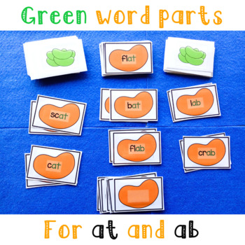 at and ab Word Family Snap Game