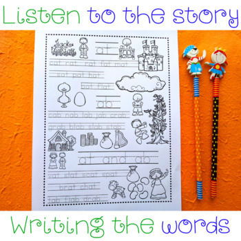 at and ab Word Family Story Word Sheet