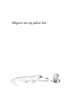 """at"" word family: Alligator Book"