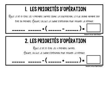 atelier/enrichissement sur les priorités d'opération
