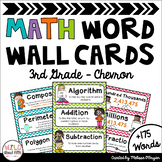 Math Word Wall Editable (3rd Grade - Chevron)