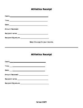 athletic reciept