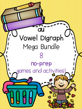 au Vowel Digraph Mega Bundle! [8 no-prep games and activities]