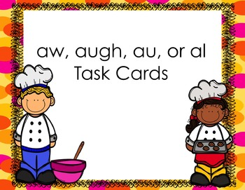 au, al, aw, augh Differentiated Task Cards