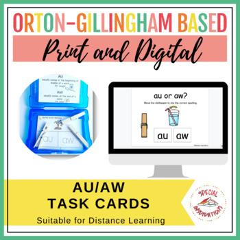 au and aw Diphthong Task Box (Orton-Gillingham)