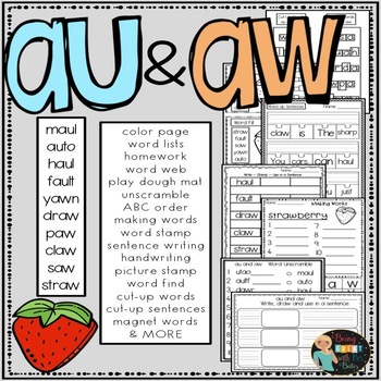 au and aw  Hands-on Spelling and Phonics