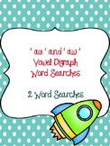 au and aw Vowel Digraph Word Searches!