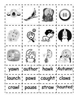 -au and -aw Word Families