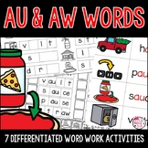 AU & AW Activities and Worksheets