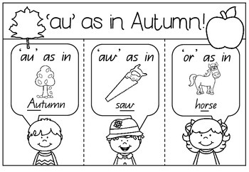 'au' as in Autumn - Spelling Activity Packet