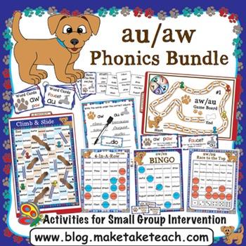 au aw Activities - The Big Phonics Box