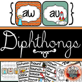 au aw Diphthongs {Word Work and Phonics Unit k-3}