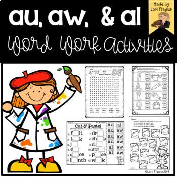 au, aw, al Word Sort