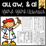 au, aw, al Word Work Activities