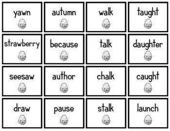 au/augh/al/aw - Short /o/ spelling patterns - Easter - 2nd Grade Spelling