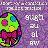 au/augh/al/aw - Short /o/ spelling patterns - Easter - 2nd