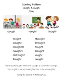 New Material Set for augh/ough: Visual, Word List & Controlled Reading