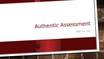 authentic assesment power point