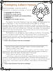 Author's Purpose PIE'ED worksheet (Thanksgiving)