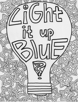 Autism Coloring Page Worksheets Teaching Resources Tpt
