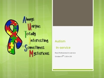 autism power point visuals