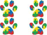 autism/puzzle piece paw print