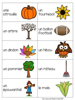 FREEBIE -  French Fall or Autumn themed game - La tapette à mouches (automne)