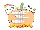 automne; mots croises; legumes; French wordsearch; French