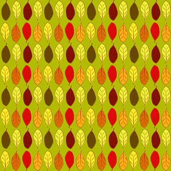 autumn digital paper with fall leaves, pumpkins and apples