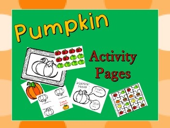 autumn pumpkin activity sheets